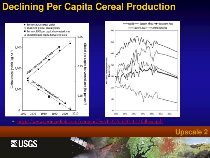 Declining Per Capita Cereal Production