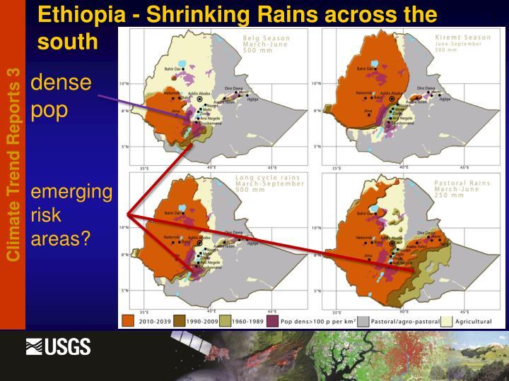 Ethiopia - Shrinking Rains across the south