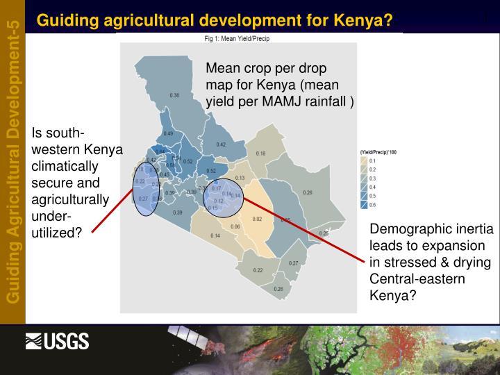 Guiding agricultural development for Kenya?