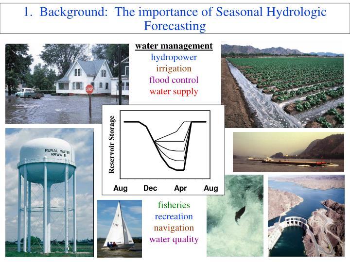 1 background the importance of seasonal hydrologic forecasting