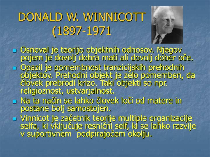 DONALD W. WINNICOTT (1897-1971