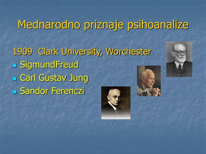 Mednarodno priznaje psihoanalize