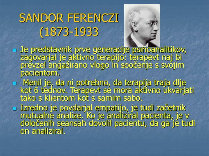 SANDOR FERENCZI (1873-1933