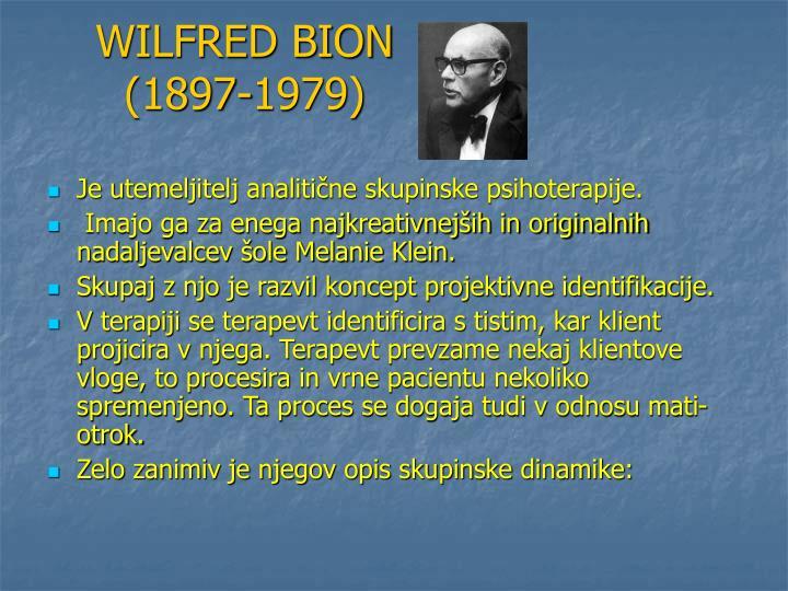 WILFRED BION (1897-1979)