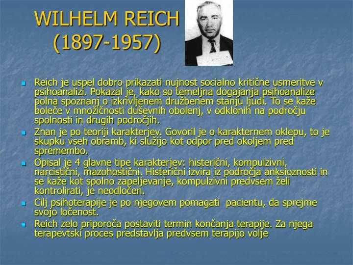 WILHELM REICH (1897-1957)