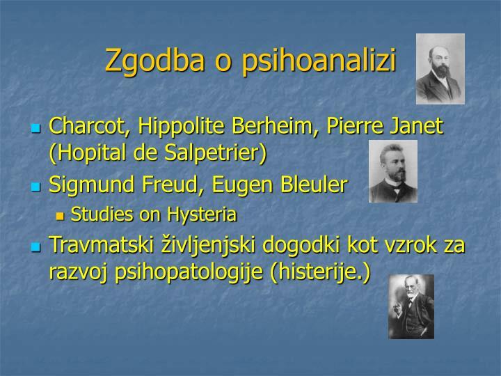 Zgodba o psihoanalizi