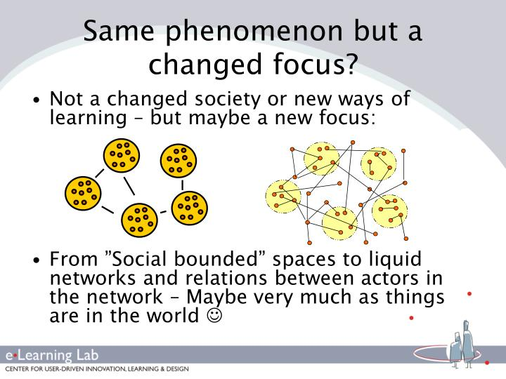 Same phenomenon but a changed focus?