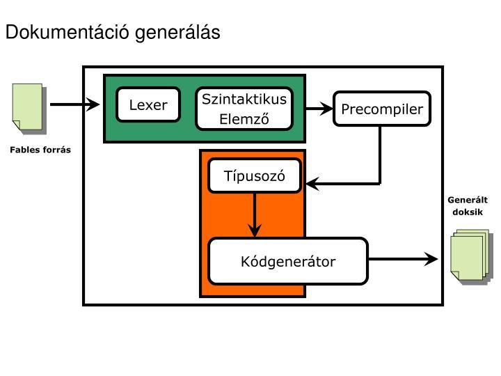 Dokumentáció generálás