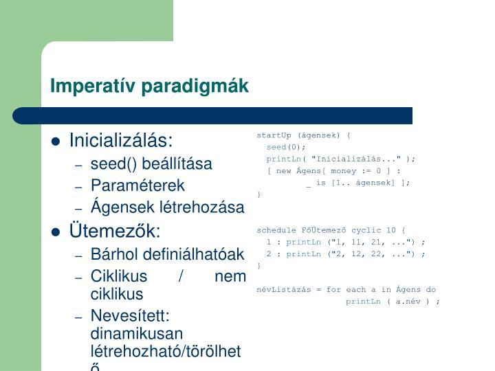 Imperatív paradigmák