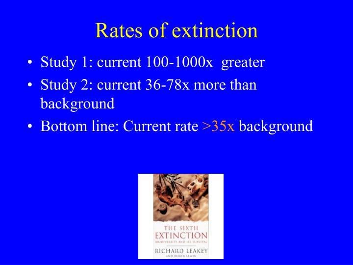 Rates of extinction