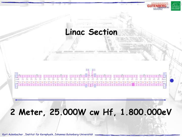 Linac Section