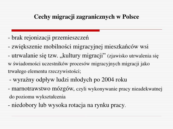 Cechy migracji zagranicznych w Polsce
