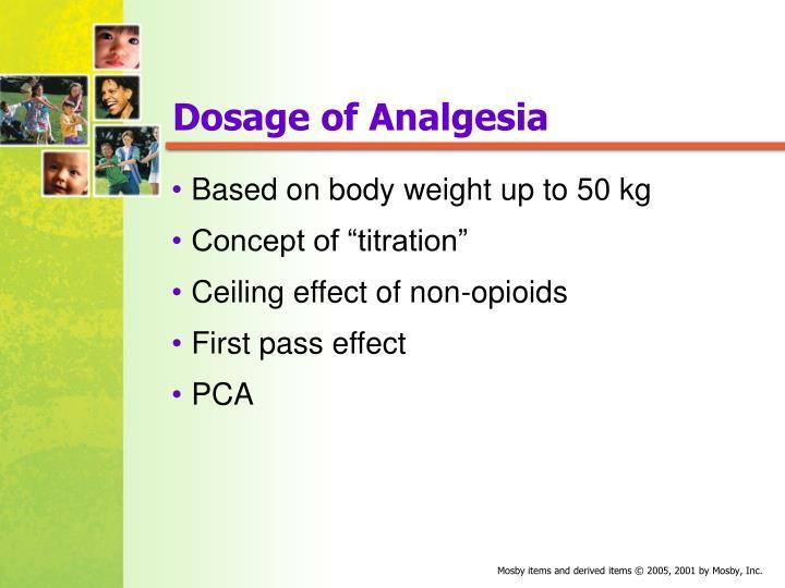 Dosage of Analgesia