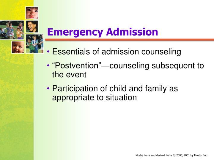 Emergency Admission