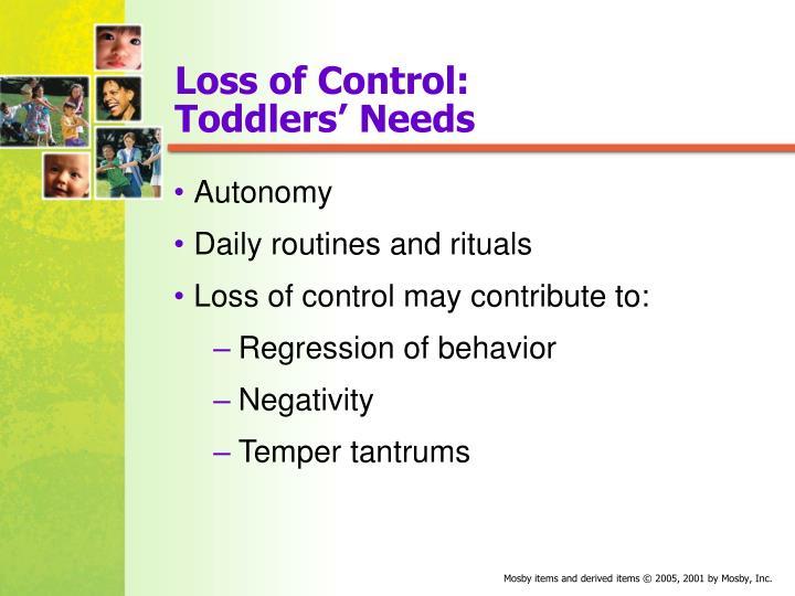 Loss of Control: