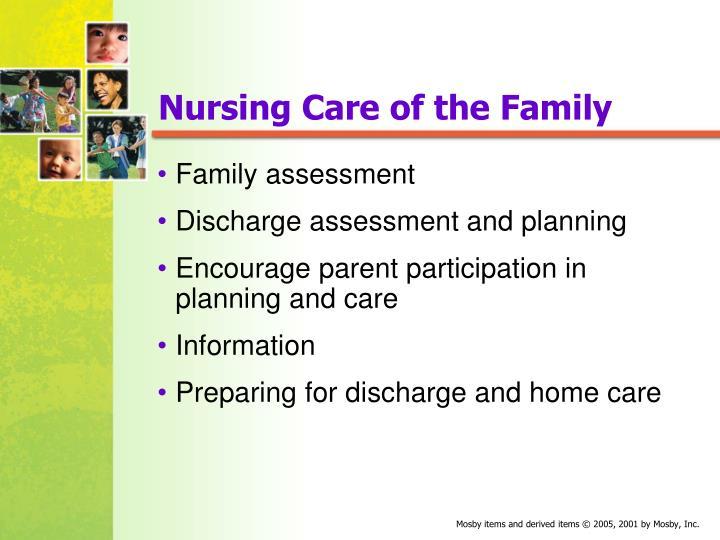 Nursing Care of the Family