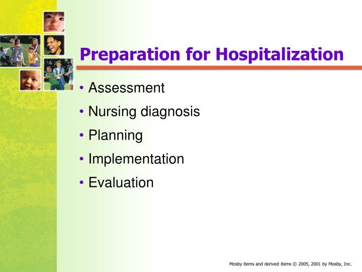 Preparation for Hospitalization