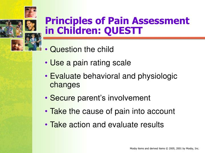 Principles of Pain Assessment in Children: QUESTT