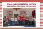 wewn trzprzedszkolny konkurs piosenki o tematyce zdrowotnej
