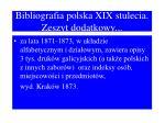 bibliografia polska xix stulecia zeszyt dodatkowy