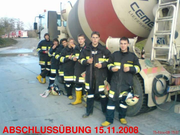 ABSCHLUSSÜBUNG 15.11.2008