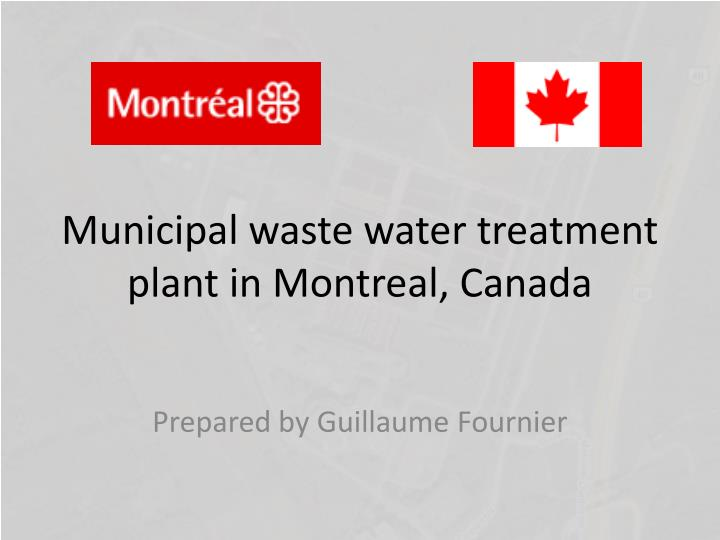 Municipal waste water treatment plant in montreal canada