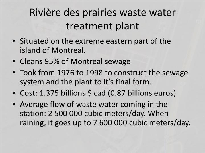 Rivi re des prairies waste water treatment plant