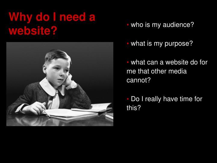 Why do i need a website