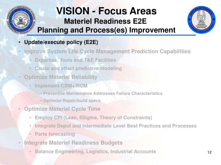 VISION - Focus Areas