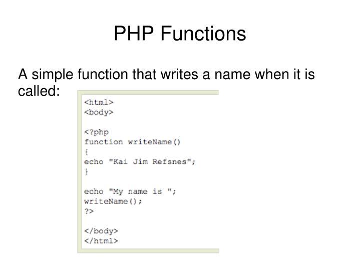 A simple function that writes a name when it is called: