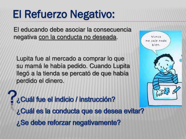 El Refuerzo Negativo: