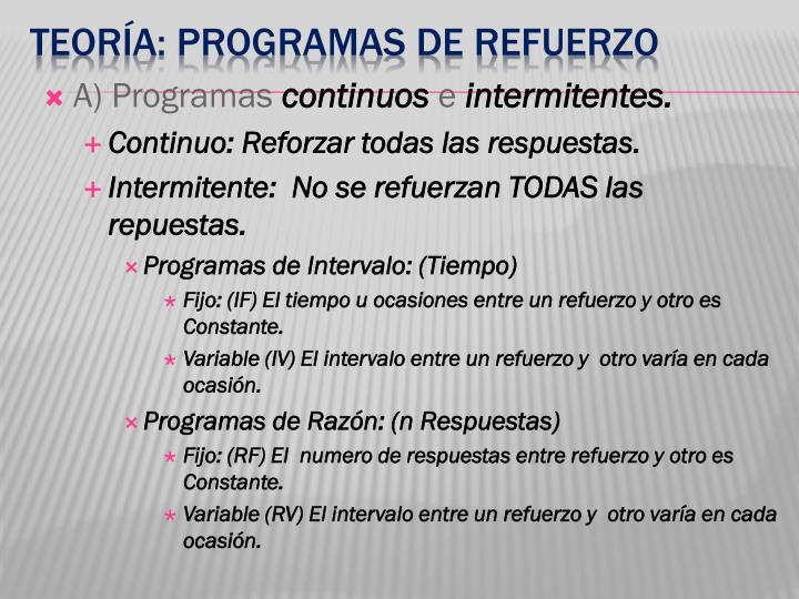 A) Programas