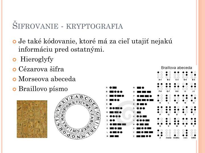 Ifrovanie kryptografia