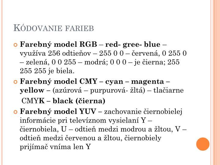 Kódovanie farieb