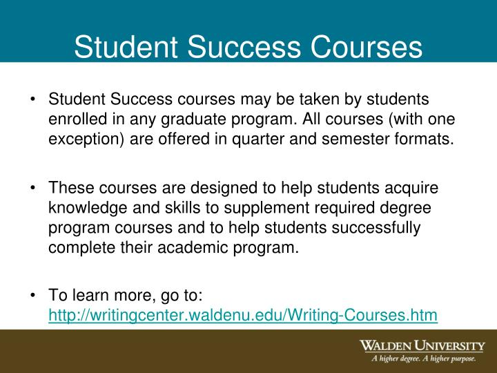 Student Success Courses