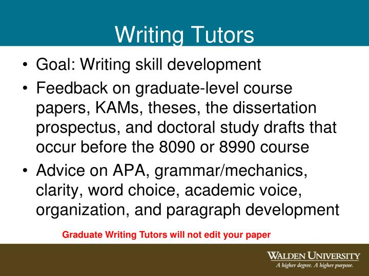 Writing Tutors