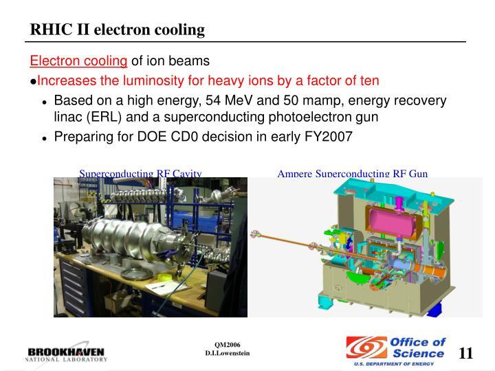 RHIC II electron cooling