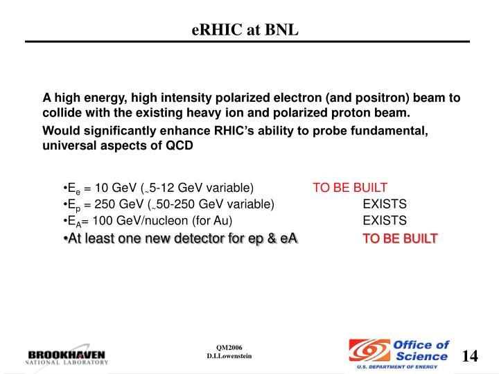 eRHIC at BNL
