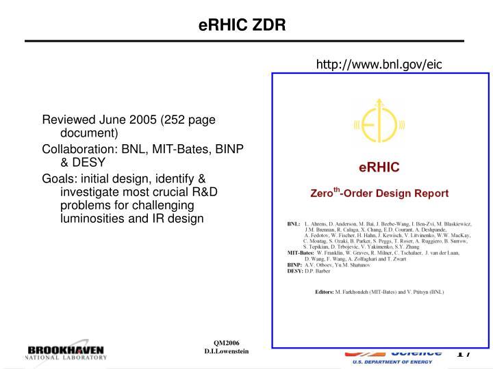 eRHIC ZDR