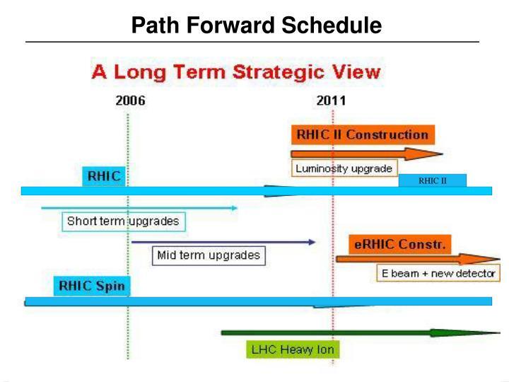 Path Forward Schedule