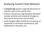 analyzing control chart behavior