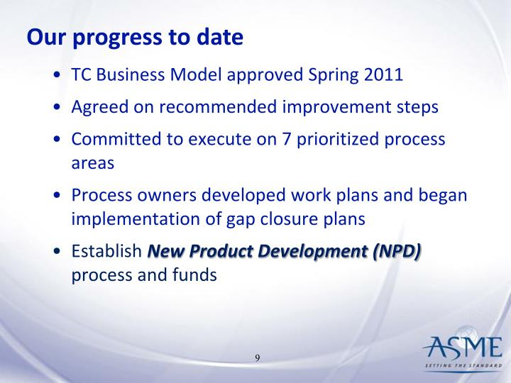 Our progress to date