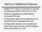netvuze additional features