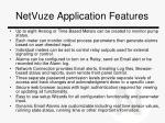 netvuze application features