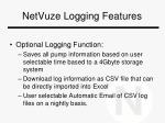 netvuze logging features