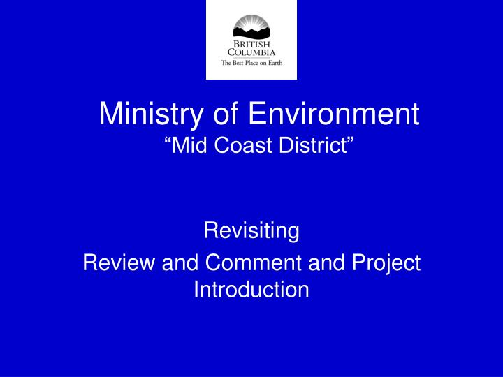 ministry of environment mid coast district