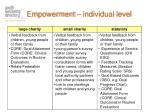 empowerment individual level