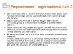 empowerment organisational level 2