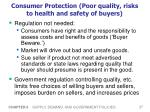 consumer protection poor quality risks to health and safety of buyers
