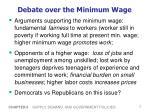 debate over the minimum wage